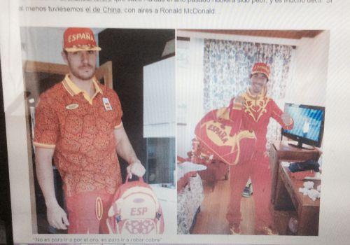 選手団の衣装、スペイン人デザイ...